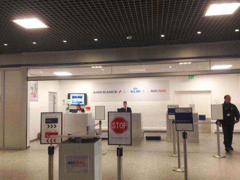 ブリュッセルMidi駅のエールフランスカウンター